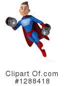 Blue And Red Male Super Hero Clipart #1288418 by Julos