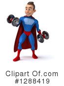 Blue And Red Male Super Hero Clipart #1288419 by Julos