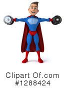 Blue And Red Male Super Hero Clipart #1288424 by Julos
