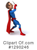 Blue And Red Male Super Hero Clipart #1290246 by Julos