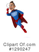 Blue And Red Male Super Hero Clipart #1290247 by Julos