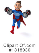 Blue And Red Male Super Hero Clipart #1318930 by Julos