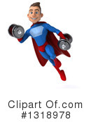 Blue And Red Male Super Hero Clipart #1318978 by Julos