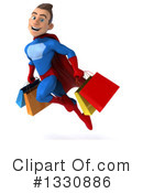 Blue And Red Male Super Hero Clipart #1330886 by Julos