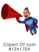 Blue And Red Male Super Hero Clipart #1341724 by Julos