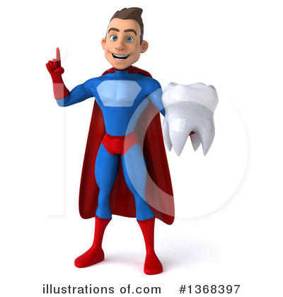 Blue Super Hero Clipart #1368397 by Julos