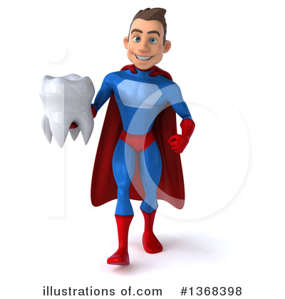 Blue Super Hero Clipart #1368398 by Julos