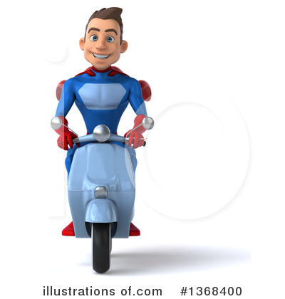 Blue Super Hero Clipart #1368400 by Julos