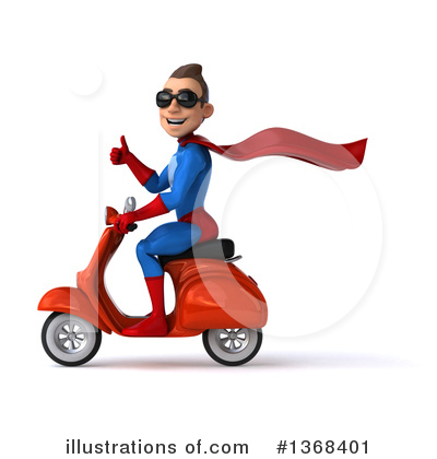 Blue Super Hero Clipart #1368401 by Julos
