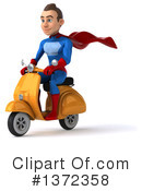 Blue And Red Super Hero Clipart #1372358 by Julos