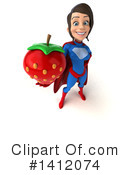 Blue And Red Super Hero Clipart #1412074 by Julos