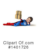 Blue And Red White Female Super Hero Clipart #1401726 by Julos