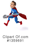 Blue And Red White Male Super Hero Clipart #1359691 by Julos
