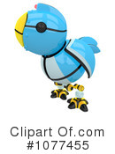 Royalty-Free (RF) Blue Bird Clipart Illustration #1077455