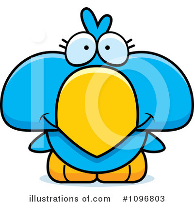 Blue Birds Clipart #1096803 by Cory Thoman