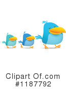 Blue Bird Clipart #1187792 by Qiun