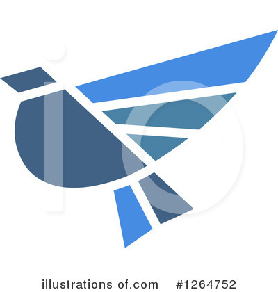 Blue Bird Clipart #1264752 by Vector Tradition SM