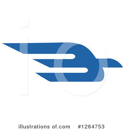 Blue Bird Clipart #1264753 by Vector Tradition SM