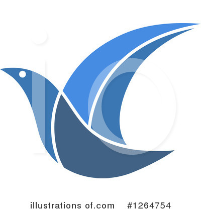 Blue Bird Clipart #1264754 by Vector Tradition SM