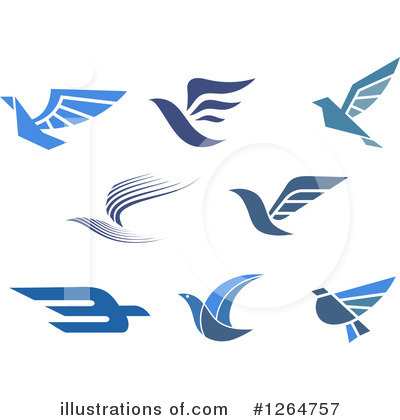 Blue Bird Clipart #1264757 by Vector Tradition SM