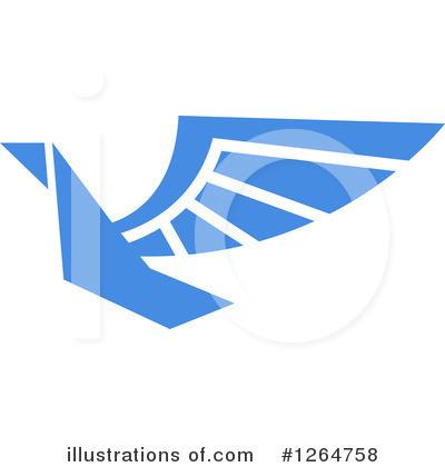 Blue Bird Clipart #1264758 by Vector Tradition SM