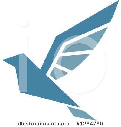 Blue Bird Clipart #1264760 by Vector Tradition SM