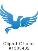 Royalty-Free (RF) Blue Bird Clipart Illustration #1303432
