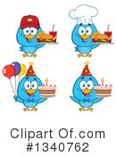 Blue Bird Clipart #1340762 by Hit Toon