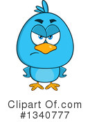 Royalty-Free (RF) Blue Bird Clipart Illustration #1340777