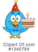 Blue Bird Clipart #1340784 by Hit Toon