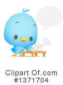 Blue Bird Clipart #1371704 by Qiun