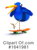 Blue Bird Clipart #1641981 by Steve Young