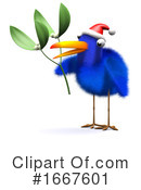 Blue Bird Clipart #1667601 by Steve Young