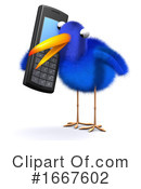 Blue Bird Clipart #1667602 by Steve Young