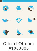 Blue Birds Clipart #1083806 by elena
