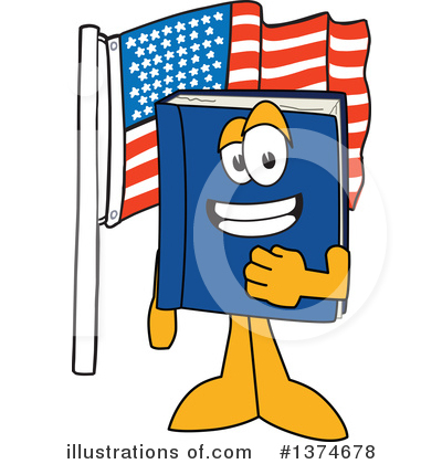Royalty-Free (RF) Blue Book Clipart Illustration by Toons4Biz - Stock Sample #1374678