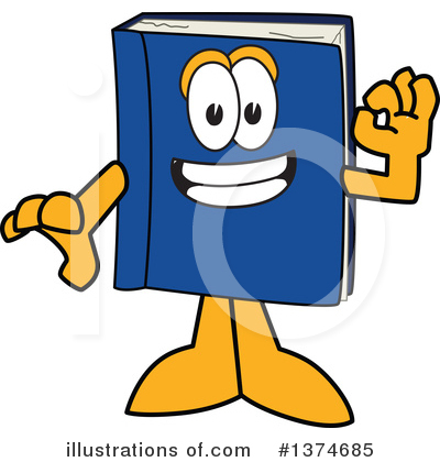 Blue Book Clipart #1374685 by Toons4Biz