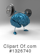 Blue Brain Clipart #1326740 by Julos
