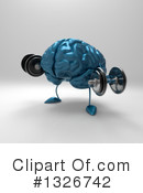 Blue Brain Clipart #1326742 by Julos