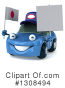 Blue Car Clipart #1308494 by Julos