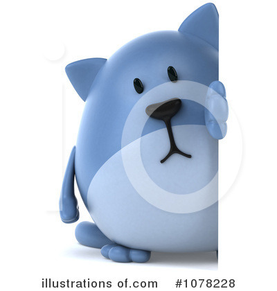 Blue Cat Clipart #1078228 by Julos