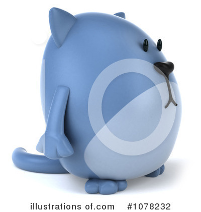 Blue Cat Clipart #1078232 by Julos