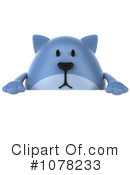 Blue Cat Clipart #1078233 by Julos