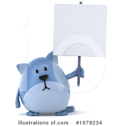 Blue Cat Clipart #1078234 by Julos