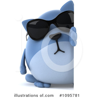 Blue Cat Clipart #1095781 by Julos