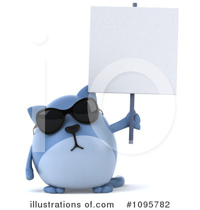 Royalty-Free (RF) Blue Cat Clipart Illustration by Julos - Stock Sample #1095782