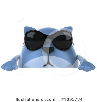 Blue Cat Clipart #1095784 by Julos