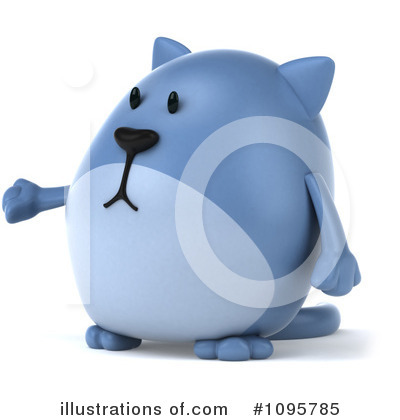 Blue Cat Clipart #1095785 by Julos