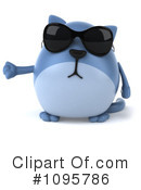 Blue Cat Clipart #1095786 by Julos