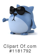 Blue Cat Clipart #1181792 by Julos